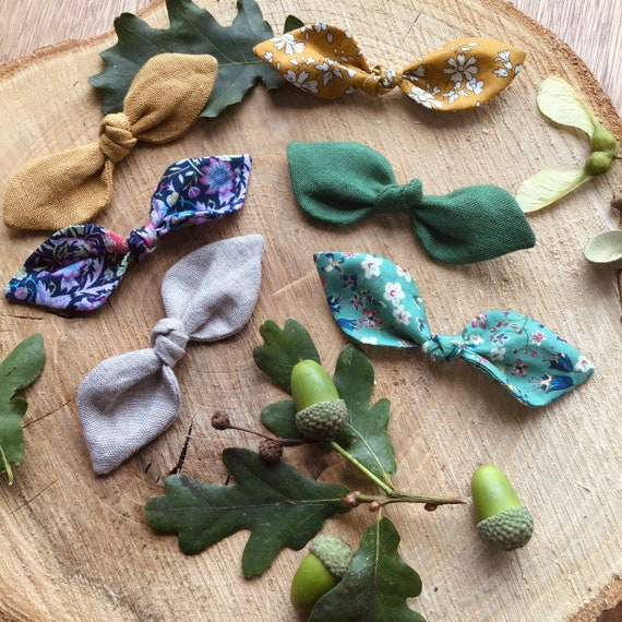Liberty and Linen Bow Hair Clips & Ties