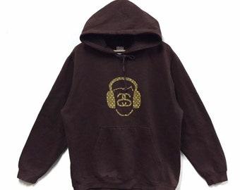 2747d6f2aa8f Vintage Stussy X Louis Vuitton Hoodie Big Logo Stussy Streetwear Hiphop  Pullover