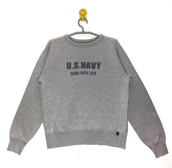 Rare!!! Us Navy By Alpha Industries Sweatshirt Pullover Crewneck