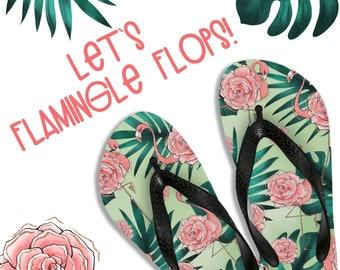 bfcc25b79574 Let s Flamingle Flip Flops