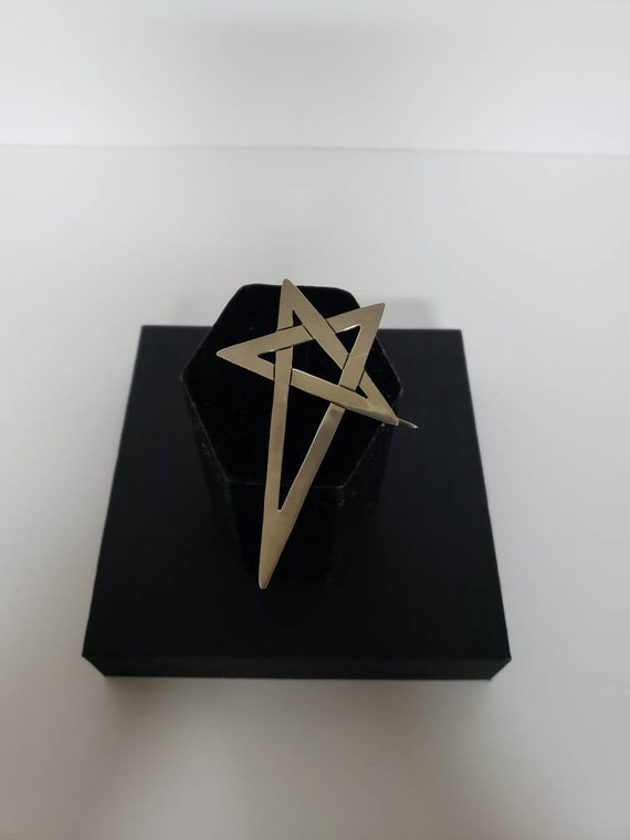 Sterling Assymetrical Abstract Star pin