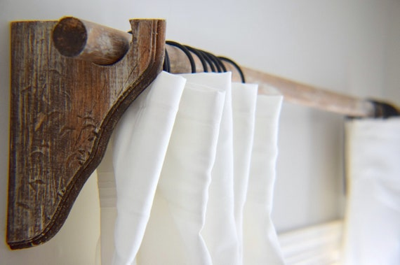 Shop Wood Curtain Rod Holder and Curtain Rod Set from Etsy on Openhaus