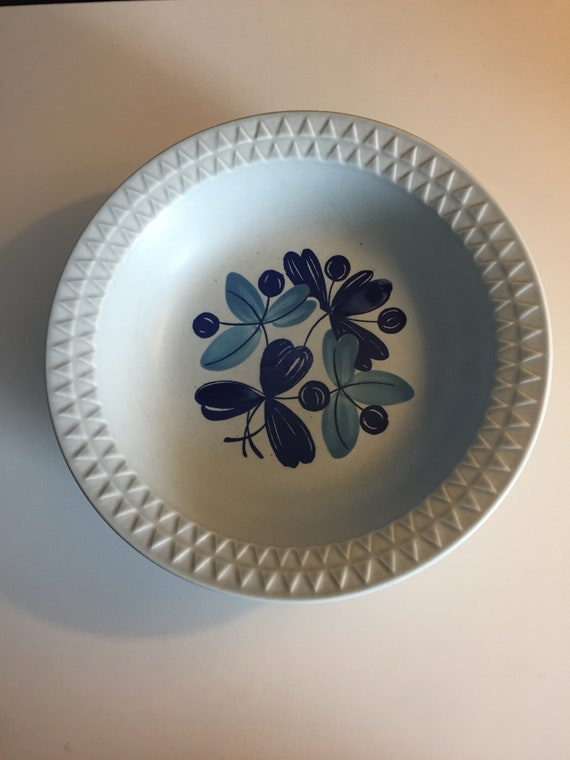 Stavangerflint Blue Pacific vintage Scandinavian soup plates tableware
