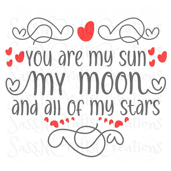 You Are My Sun SVG  Sweet, Love, Cute, Cricut, Silhouette