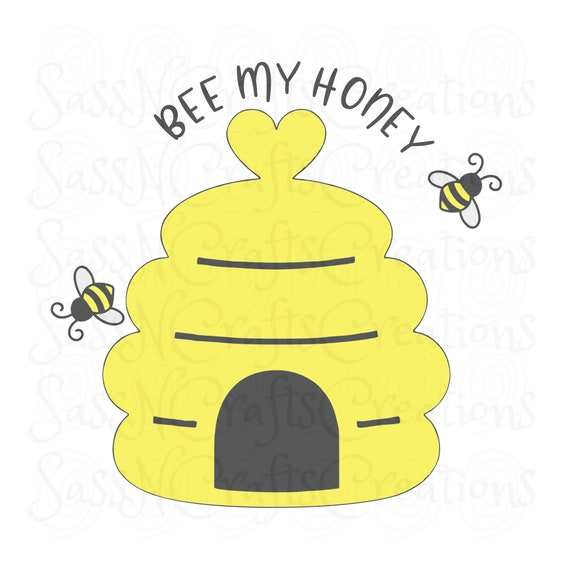 Bee My Honey SVG Summer Spring Cute, Cricut, Silhouette