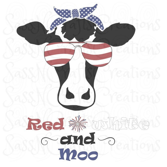 Red White and Moo Sublimation Print