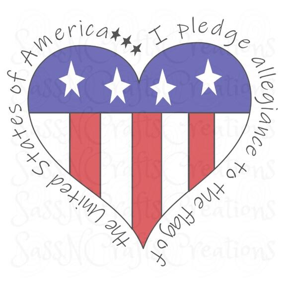 I Pledge Allegiance Sublimation Print Transfer