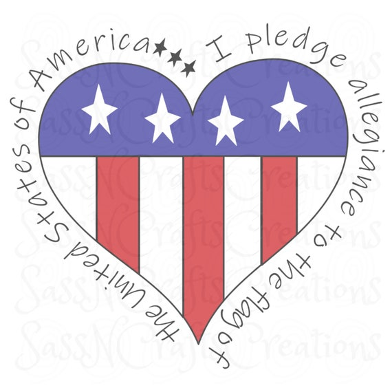I Pledge Allegiance Sublimation Design