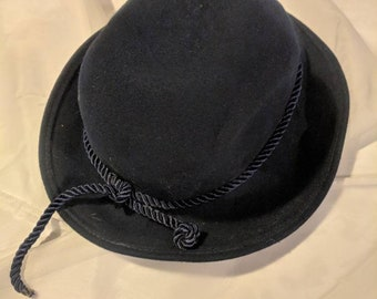 Bollman Hat Doeskin 100% Wool Tina Too Navy Blue 0282b9904621