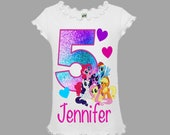 My Little Pony Birthday Shirt, My Little Pony Girl 39 s Birthday Shirt