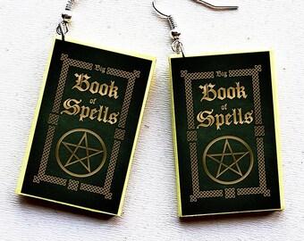 Spell book earrings | Etsy