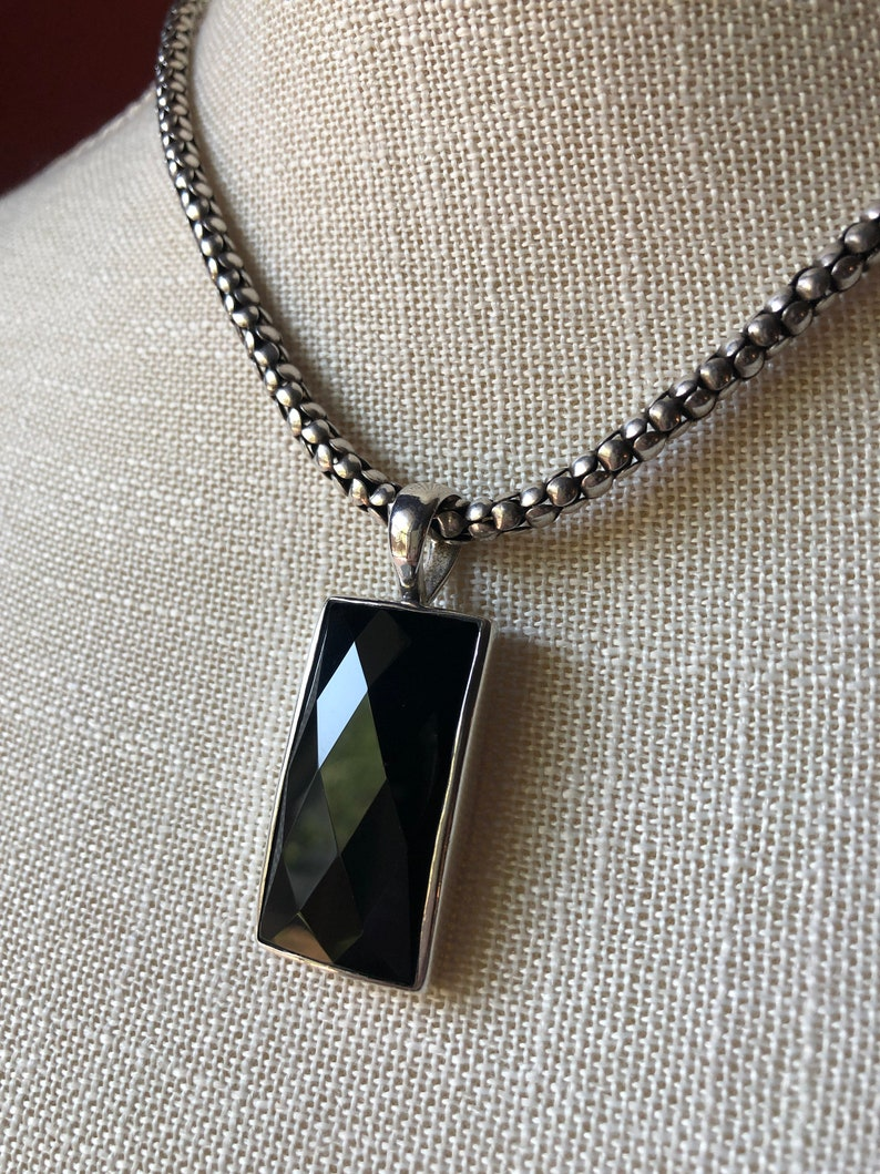 SILPADA Jewelry Retired ~ Faceted Black Onyx /& Sterling Silver Pendant