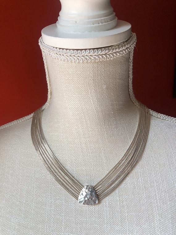 Silpada Sterling Silver Multi 4 Strand 925 Sterling Silver Chain Necklace Retired