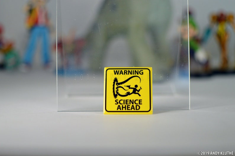 2 square button WARNING Science Ahead