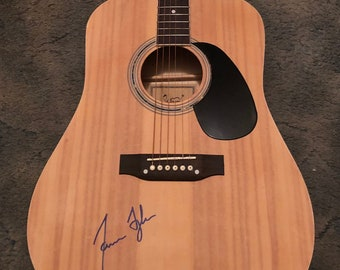 JAMES TAYLOR   autographed signed full size GUITAR