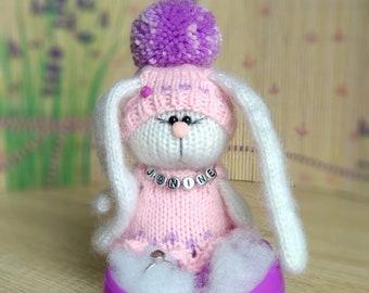 Pretty Bunny amigurumi in pink dress | Tier häkeln kostenlos | 270x340