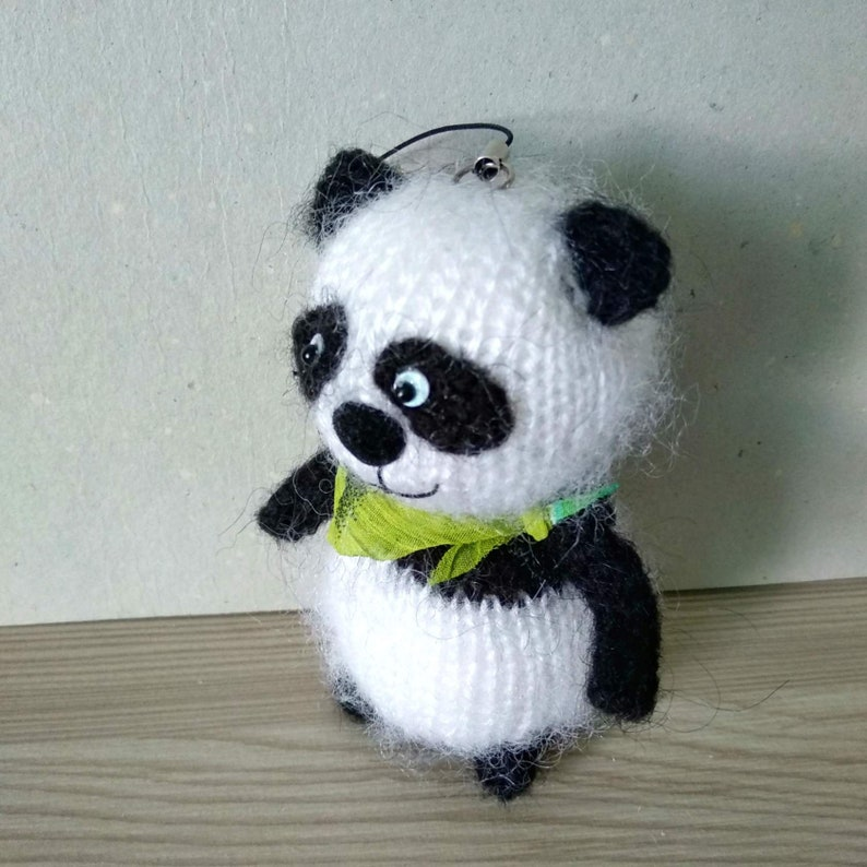 High quality knitted panda bear!