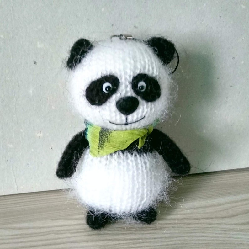 Cute panda toy Mini animal Crochet panda amigurumi Miniature toy ... | 794x794