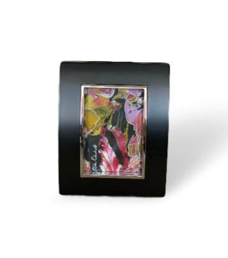 Original art miniature painting abstract art acrylic image 0