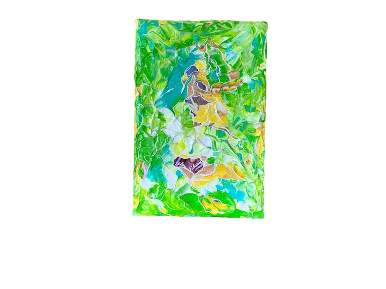 Original abstract painting acrylic painting of green image 0