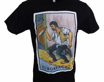 5b0d27a577 El Borracho Loteria T Shirt