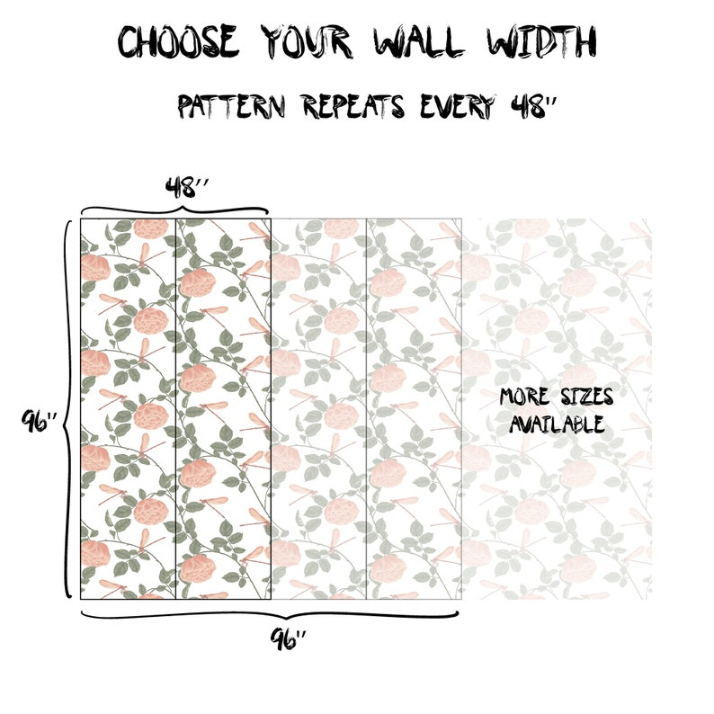Kids Nursery Temporary Decor Pink Floral Removable Wallpaper Flowers Bloom Self Adhesive Wall Mural Children Botany Peel /& Stick Decal