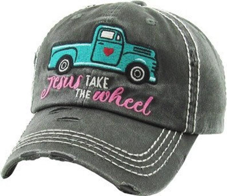 Super cute Jesus take the wheel Hat