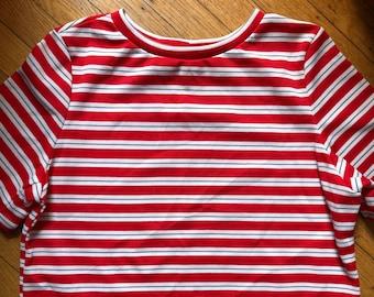 1544fe5f041b93 Vintage 1970s Boxy Striped Shirt | Size Ladies 18