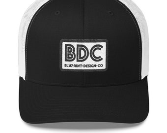 60192cb614c Bluprint Design Company vintage styled trucker hat. Embroidered retro mesh  snapback cap.