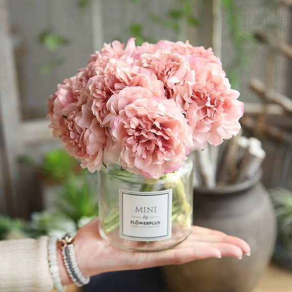 Artificial Flowers Peony Bouquet For Wedding Decoration 5 Etsy