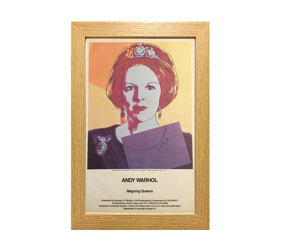 """ANDY WARHOL Queen Elizabeth II of England from Reigning Queens 32.25/"""" x 23.5/"""""""