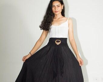 d360366818b41 Ladies Summer Long Skirt-Cotton Maxi Skirt-Party Skirt-Boho Skirt-Gypsy  Hippy Skirt   coconut buckle-Women Boho Skirt- Trendy Beachwear-S010
