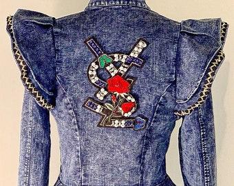 Designer Inspired Custom Yves Saint Laurent Peplum Jacket 7a68200b874f7