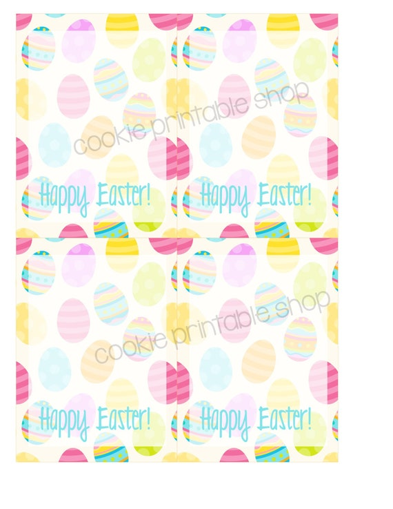 photo relating to Happy Easter Printable named delighted easter PRINTABLE CARD