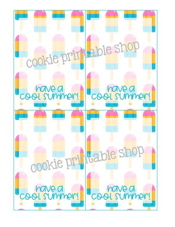 photo regarding Have a Cool Summer Printable called incorporate a neat summer season PRINTABLE CARD