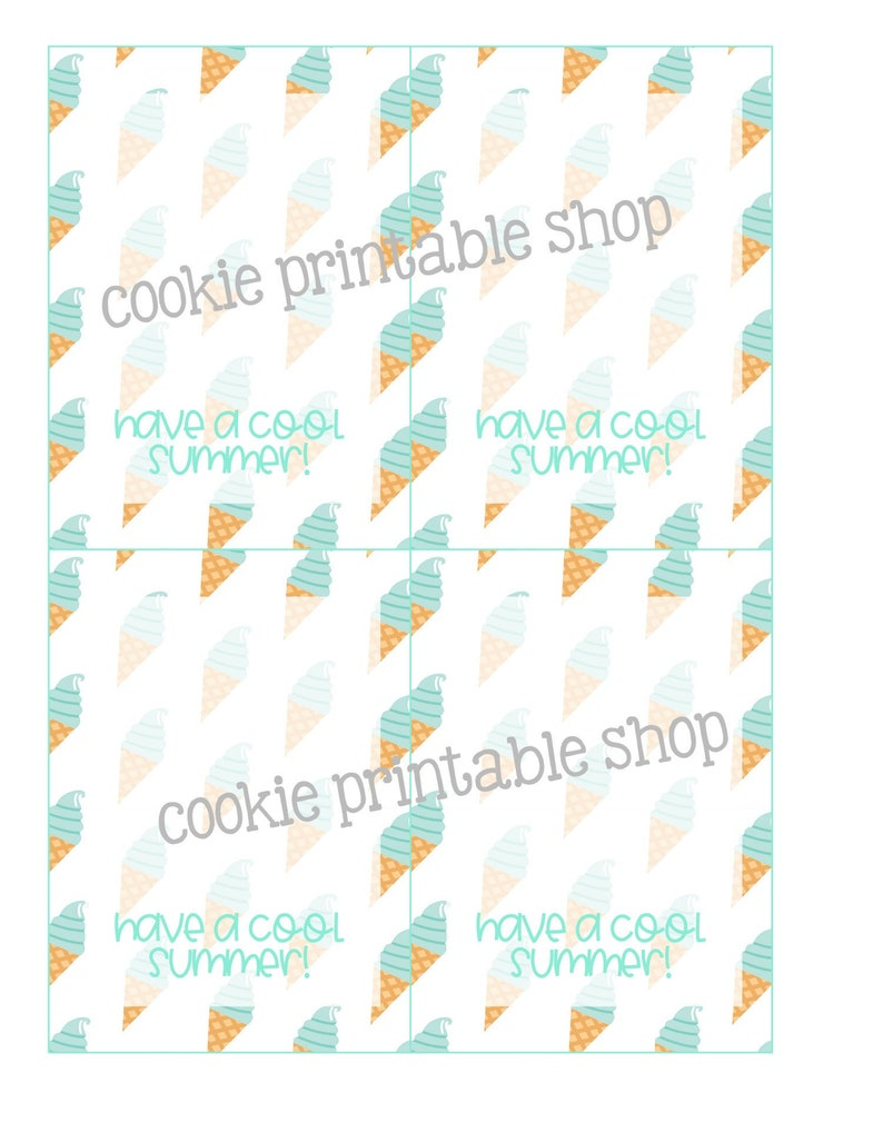 image about Have a Cool Summer Printable known as include a amazing summer time PRINTABLE CARD
