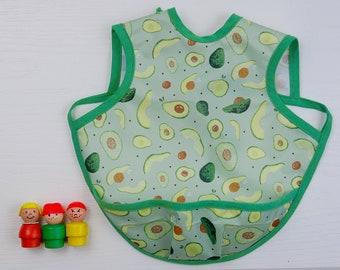 Reversible Bib Art Smock Reversible Bapron Toddler Apron Toddler Bib Bapron
