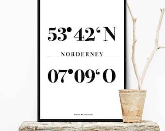 NORDIG Poster Coordinates Norderney