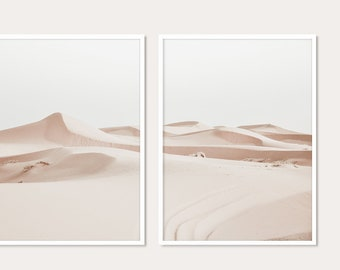 Set Of 2 Prints, Sahara Desert Print, Morocco Print, Landscape Print, Photography Print, Digital Download, Home Decor