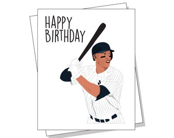 Yankee Birthday Card Etsy