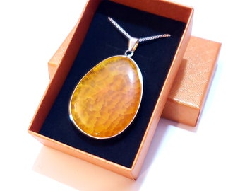 Natural Orange Agate Pendant | LIMITED Supply | All Unique Stones | Fast Shipping from Utah | Perfect Gift | Irregular Designs