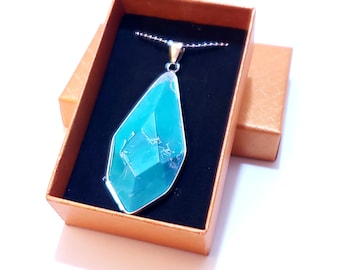 Natural Apatite Water Drop Shape Necklace | Fast Shipping from US | 925 Sterling Silver Chain | Gift Box