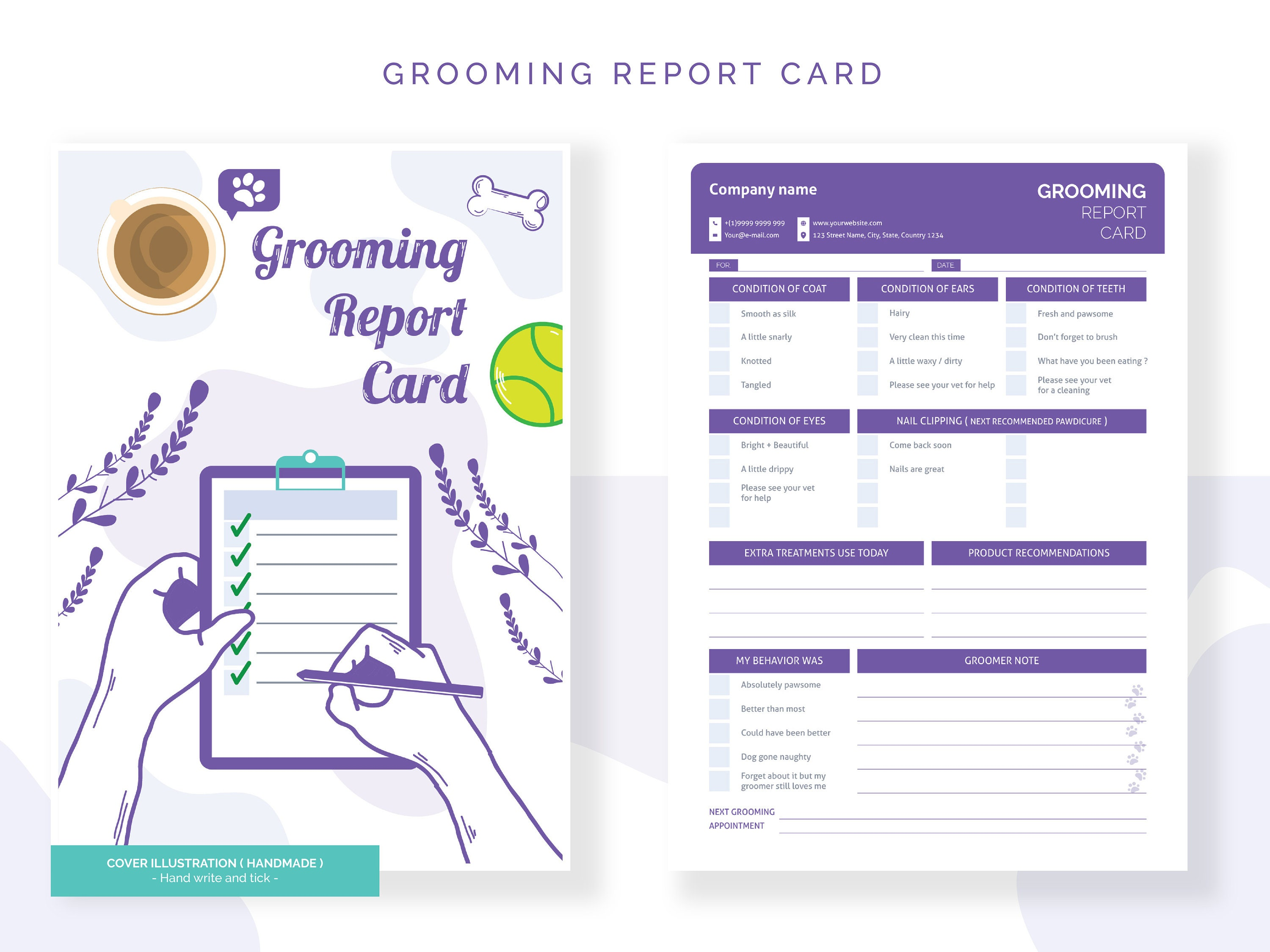 Pet Grooming Service Checklist, Cat Grooming Template, Puppy Grooming  Template, Dog Grooming Report Card, Pet Shop List, INSTANT DOWNLOAD Within Dog Grooming Record Card Template
