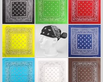 Bandana Scarf Women Fashion Wear Cotton Bandana Scarf for Neck Wristband Headwear  Headband Accessory 2bb5e1560e59