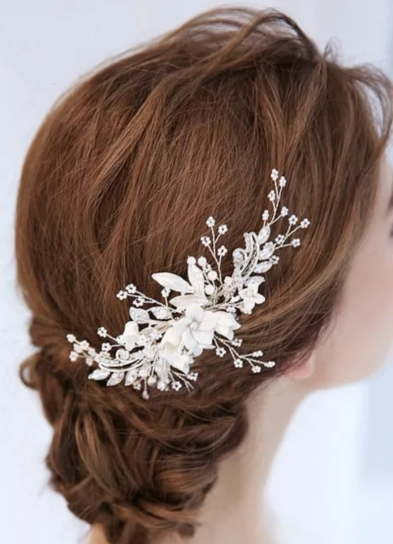 wedding comb bridal headpiece decorative bridal comb bridal hairpiece bridal hair comb flower haircomb bridal comb wedding headpiece