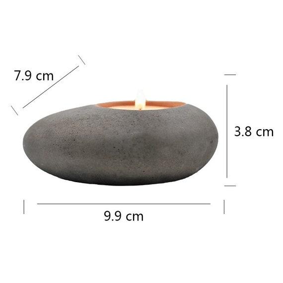 3X Cobblestone Candlestick Silicone Mold Concrete Flowerpot Mould Handmade J3A4