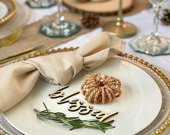Thanksgiving Place Cards / Grateful Place Cards / Friendsgivings / Blessed Place Cards / Table Decor / Holiday Decor