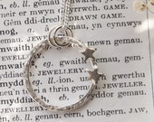 Handmade Silver Star Pendant Necklace / Sterling Silver Personalised Family Jewellery / Stargazer Jewellery / Handmade in Wales