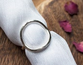 Handmade Hammered Sterling Silver Large Open Circle Statement Ring. Stylish Welsh Jewellery