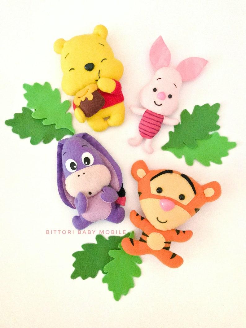 Tigger Winnie the Pooh characters Pooh bear Piglet Felt toys Eeyore Disney nursery Disney doll